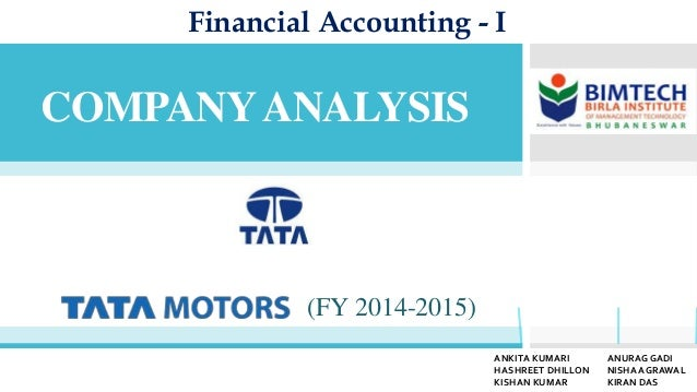 Tata Motors Financial Analysis