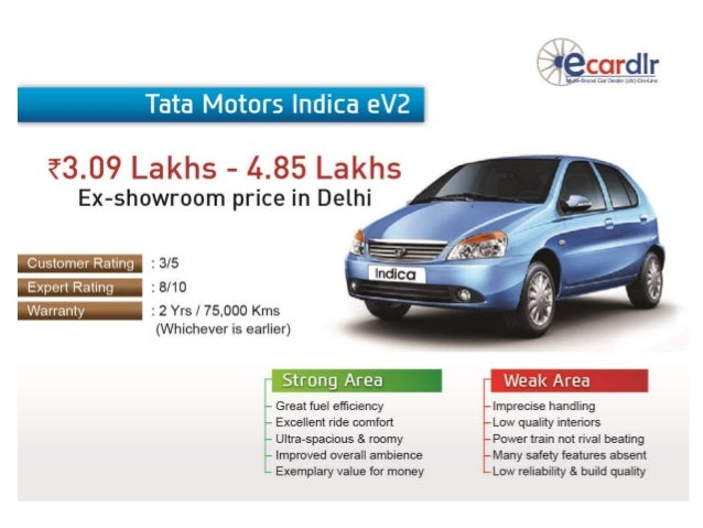 Tata motors indica ev2 prices mileage reviews and images for Stock price of tata motors