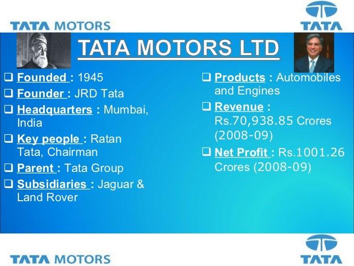 tata motors strategy To download tata group's growth strategies case study some of the notable acquisitions were tata steel acquiring corus in 2007 and tata motors' acquisition of.
