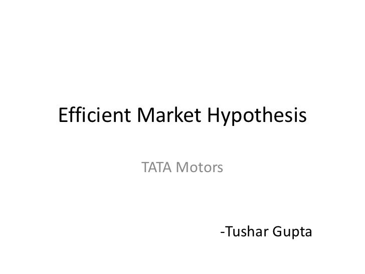 an analysis of the efficient market hypothesis The efficient market hypothesis (emh) asserts that financial markets  (1963)  perform spectral analysis on market prices and found that.