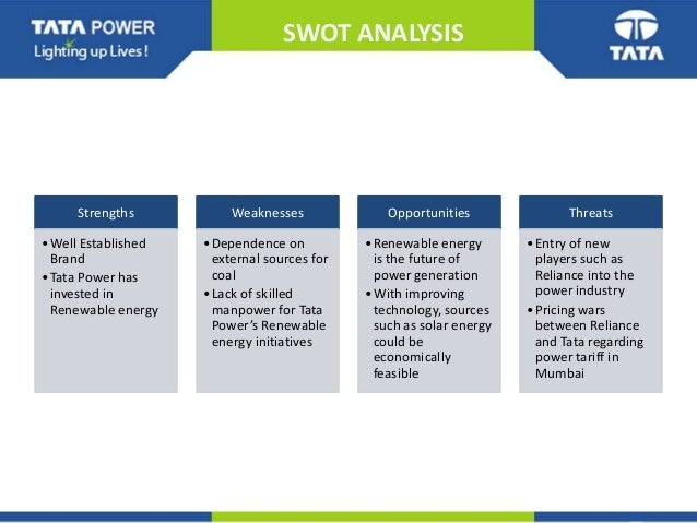 tata swot analysis Tata elxsi is headquartered in bangalore, karnataka, india this comprehensive swot profile of tata elxsi limited provides you an in-depth strategic analysis of the companys businesses and operations.