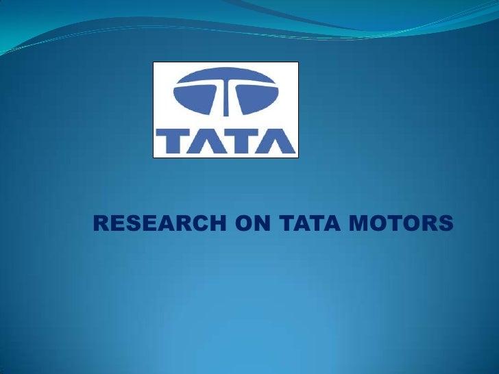 Tata ppt on_motors