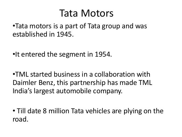 objectives of tata motors Jaguar land rover, a company that was acquired by tata motors in june 2008 for $23 billion, offers a contrast to the tale of tata steel europe jaguar land rover, a company that was acquired by tata motors in june 2008 for $23 billion, offers a contrast to the tale of tata steel europe.