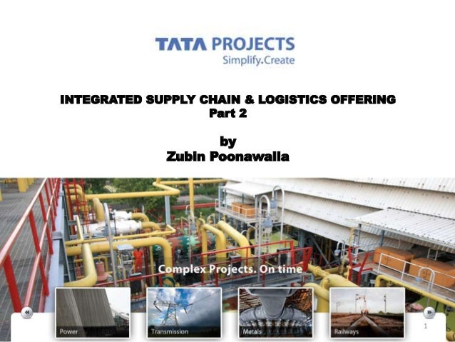INTEGRATED SUPPLY CHAIN & LOGISTICS OFFERING Part 2 by Zubin Poonawalla 1