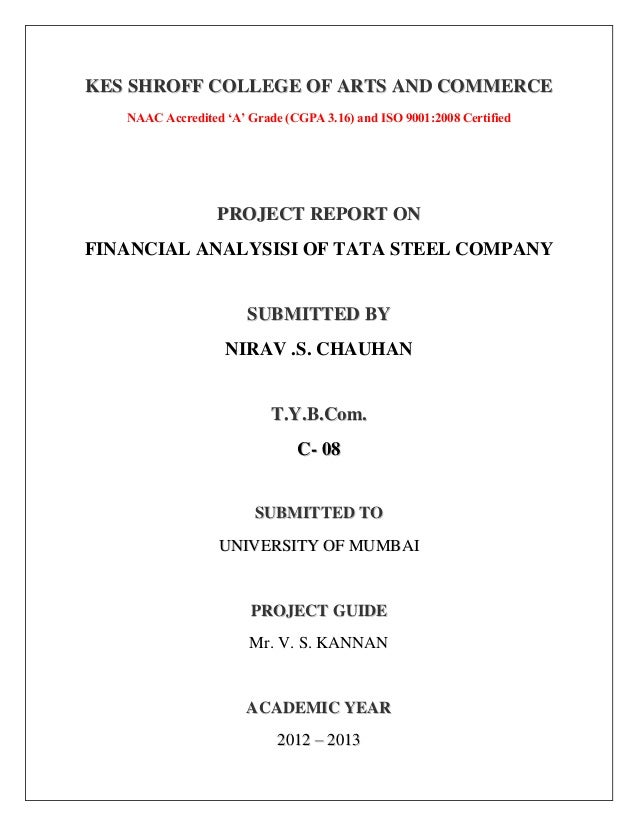 Tata steel financial analysis with comments on trend and comparative balanceshhet