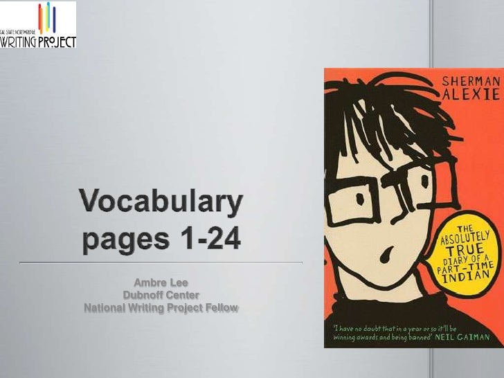 Vocabularypages 1-24<br />Ambre Lee<br />Dubnoff Center<br />National Writing Project Fellow<br />