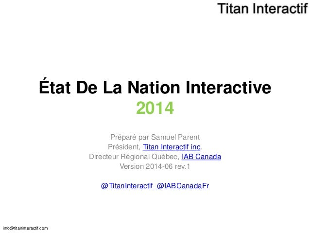 État de la nation interactive 2014-06