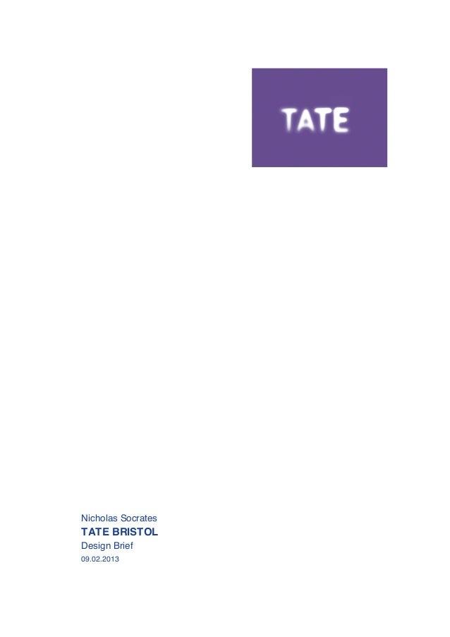 Tate Bristol  - Design Brief - 170213
