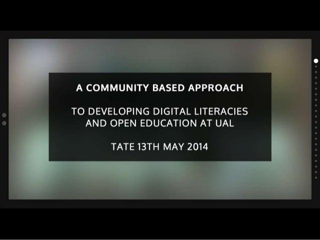 DIAL Tate Britain presentation 13th May 2014