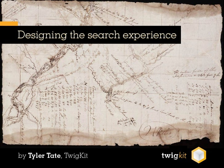 Tate Tyler - Designing the Search Experience