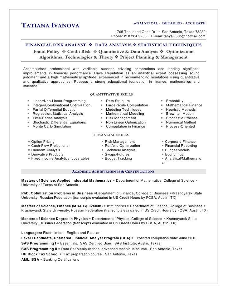 Credit risk analyst resume samples : Smeda business plan