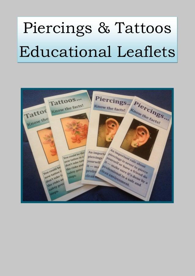 Piercings & TattoosEducational Leaflets