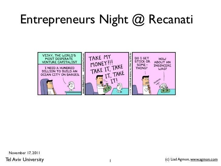 Tel Aviv University Entrepreneurs Night November 17 2011