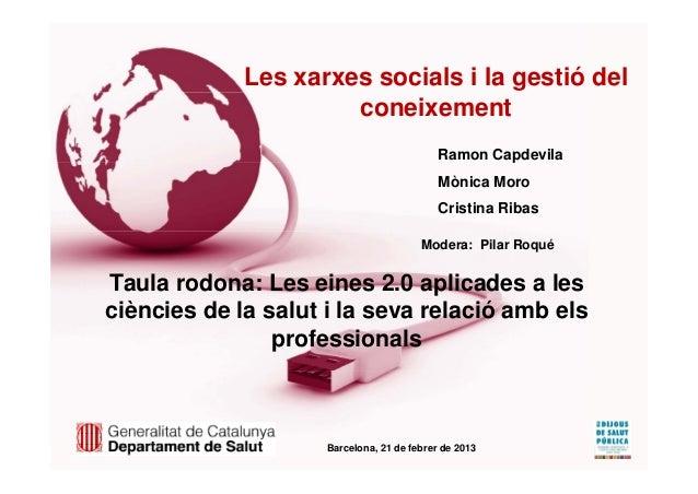 Les xarxes socials i la gestió del                      coneixement                                            Ramon Capde...