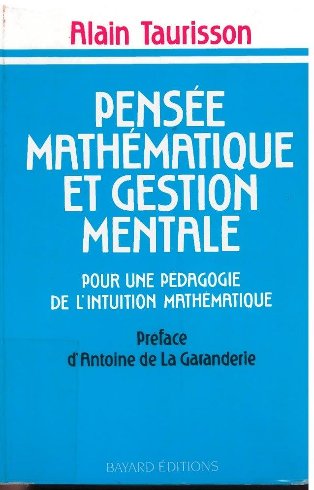 Taurisson A., Pensée mathématique et gestion mentale