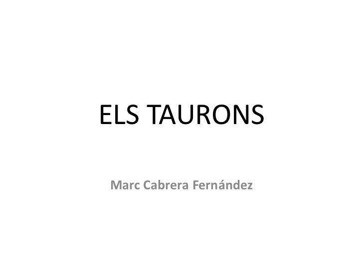 ELS TAURONSMarc Cabrera Fernández