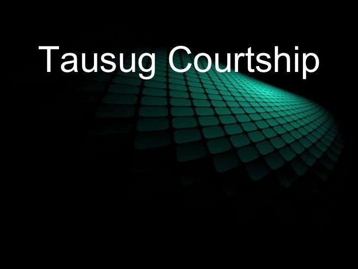 Tausug courtship