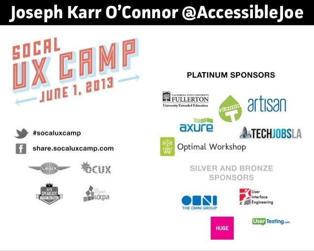 Joseph Karr O'Connor @AccessibleJoe