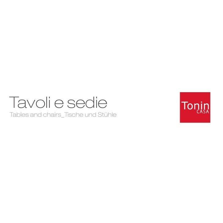 Tavoli e sedie Tables and chairs_Tische und Stühle