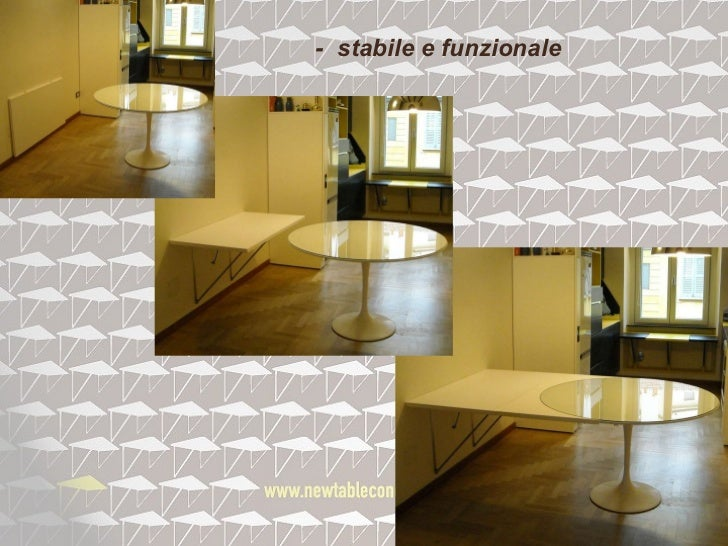 Il tavolo che Scompare - Tavolo pieghevole a muro salvaspazio