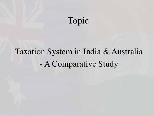 Taxation - India & Australia