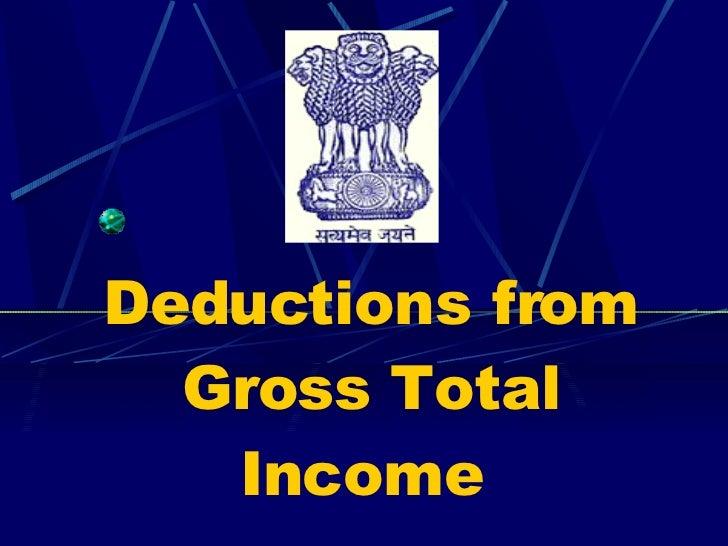 Income tax presentation