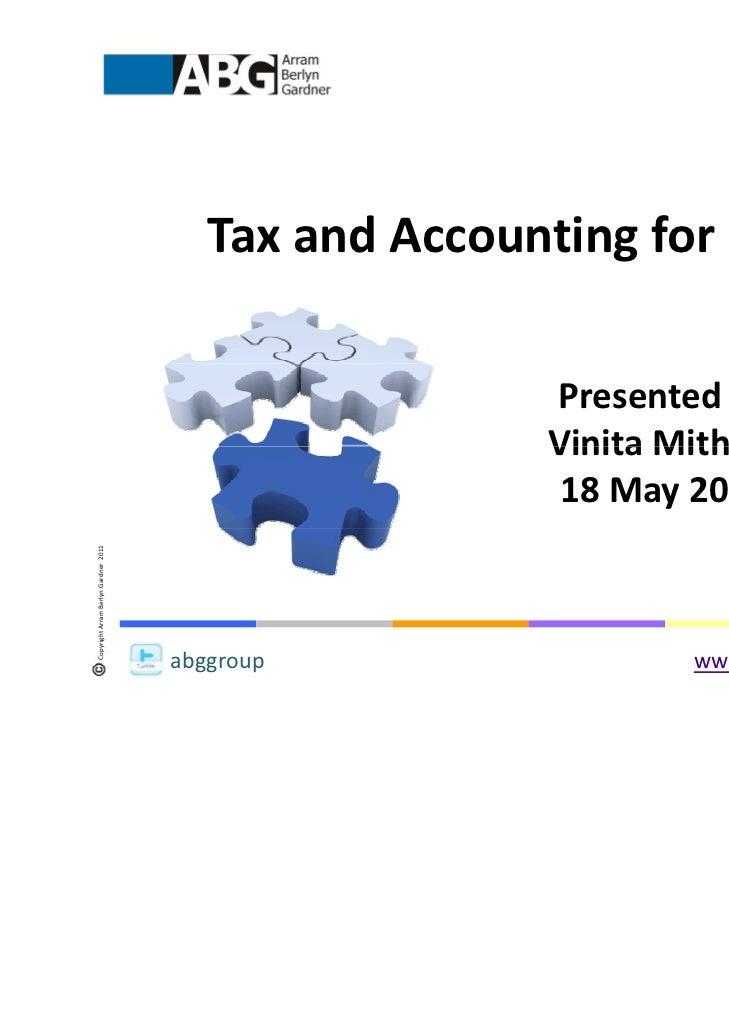 TaxandAccountingforLLPs                                                        Presentedby                          ...