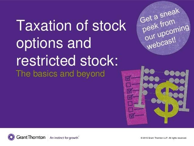 Taxation stock options