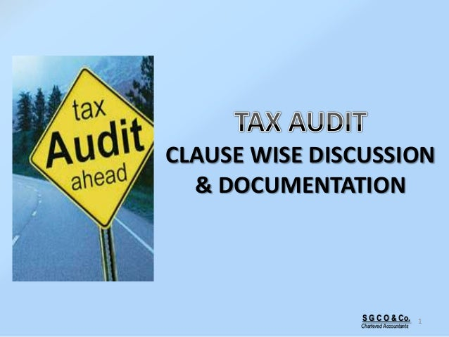 S G C O & Co. Chartered Accountants 1 CLAUSE WISE DISCUSSION & DOCUMENTATION