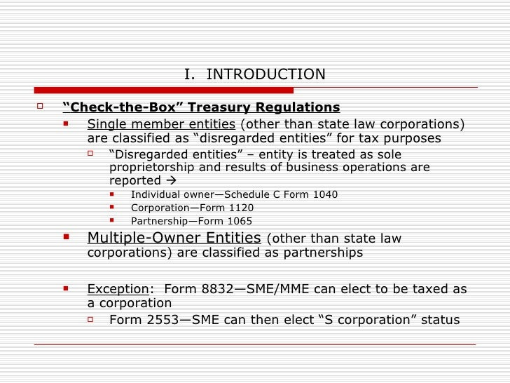 Forming & Advising Businesses Tax Considerations Presented by:  Beth A. Di Santo, Esq. New York State Bar Association Semi...