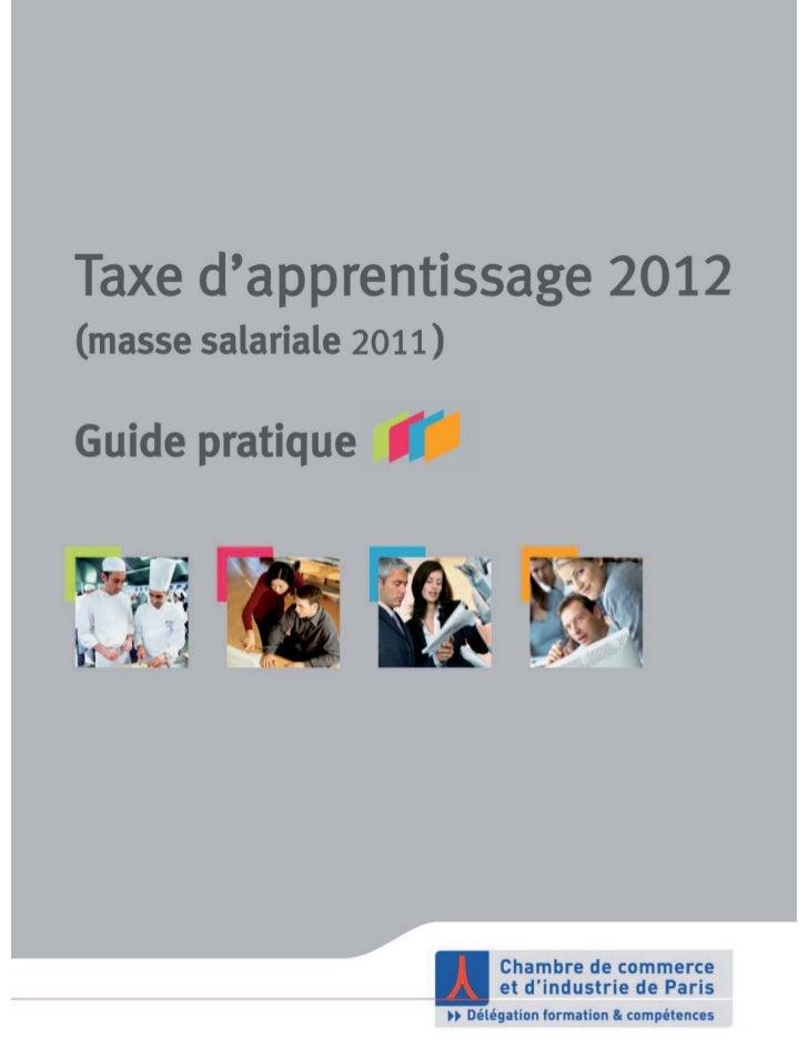 Taxe d'apprentissage 2012 (masse salariale 2011) / Guide pratique