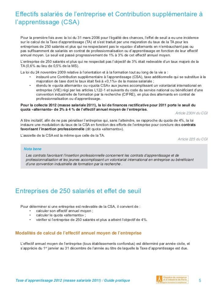 calcul taxe sur les salaires 2012