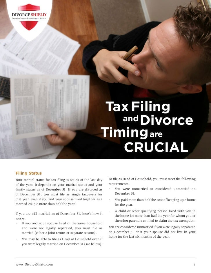 Tax Filing                                                                  and Divorce                                   ...