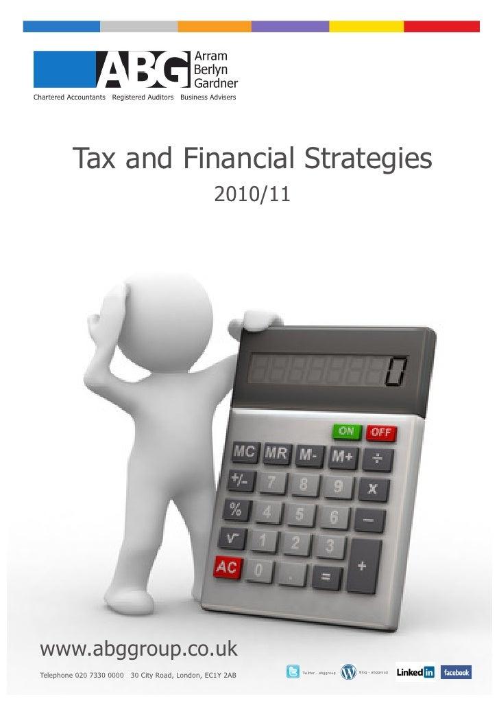 Tax & Financial Strategies 2010 11