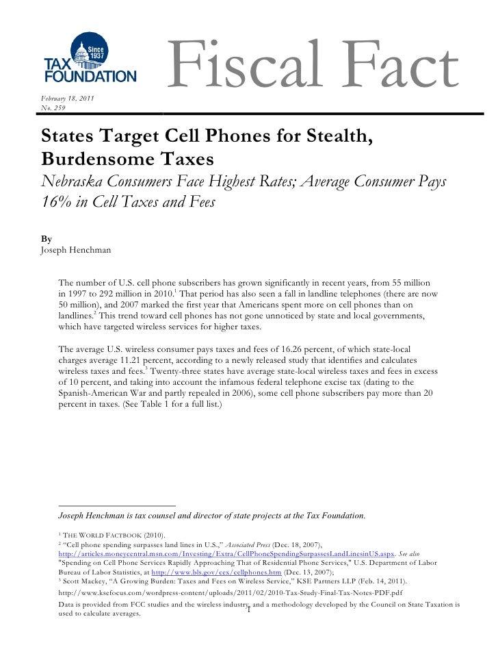 Tax foundation report