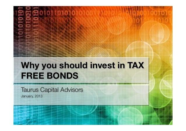 Tax free bonds - 2013