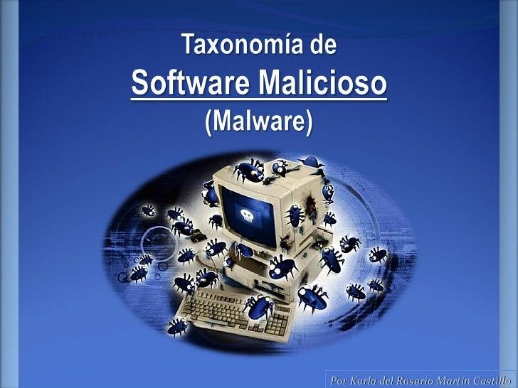 Taxonomía de Malware
