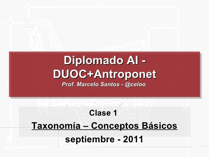 Taxonomia duoc   conceptos basicos - clase 01