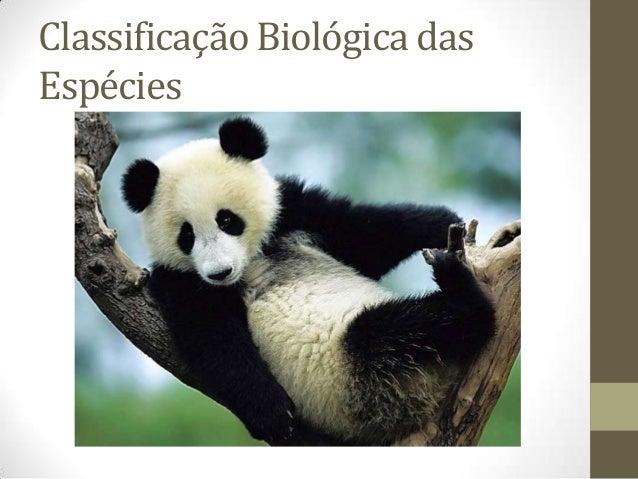 Classificação Biológica dasEspécies