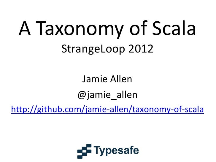 Taxonomy of Scala