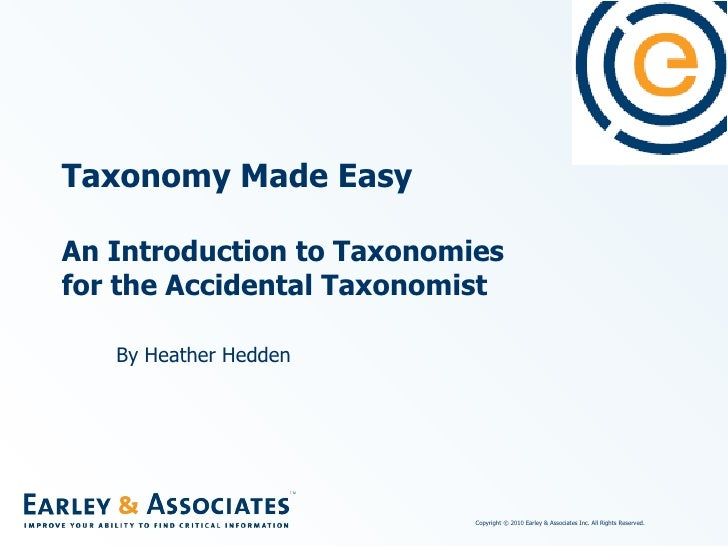 Taxonomy made easy