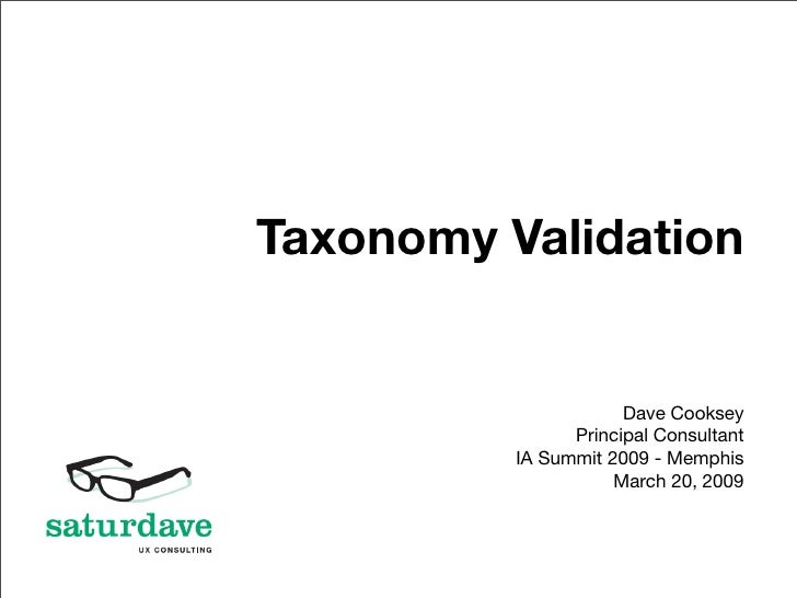 Taxonomy Validation