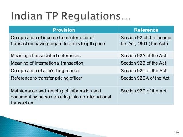 transfer pricing documentation for associated enterprises