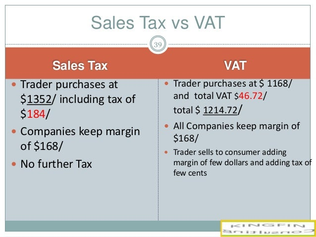 value added tax and total sales Value added tax(vat) is a tax on sales used in the uk given that the value of sales normally exceeds purchases this the vat added on would total £1,000.
