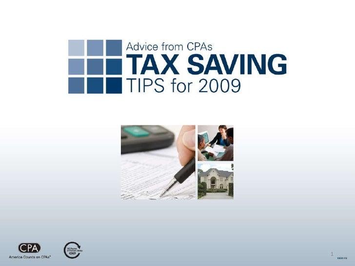 Tax Savings Tips for 2009