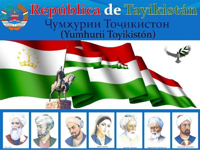 Área: 143,100 sq km (55,213 sq mi) Poblacion: 7,373.8 00 (2008 est.) Capital: Dushanbe Lengua nativa: Tayiko (Farsi-Perso)...