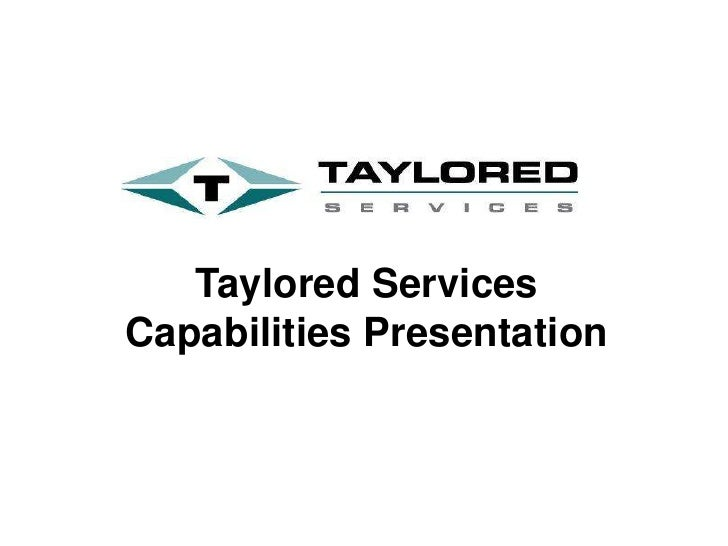 Taylored Services Capabilities 2012