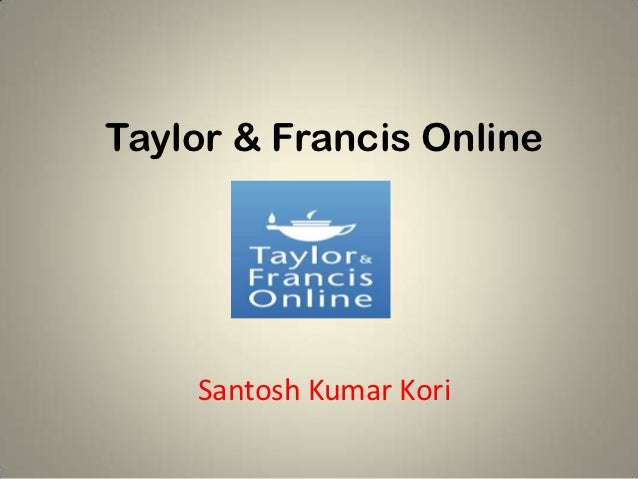 Taylor & francis online ppt