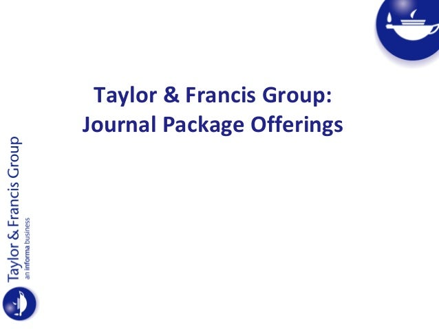 Taylor & francis journal