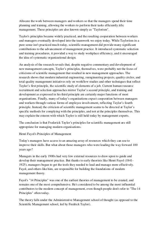 taylor    s scientific management essay   durdgereport   web fc  comtaylor    s scientific management essay
